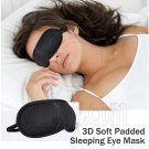 3D Soft Eye Sleep Mask Padded Shade Cover Travel Relax Sleeping Aid Blindfold #13059