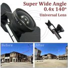 Universal Selfie 0.4x Super Wide View Angle Lens Clip Kit for Mobile Phone MIB #13136