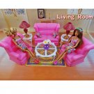 Living Room Sofa Table Lamp Furniture Play Set for Barbie Monster High MIB Gift #13123