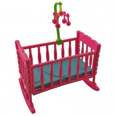 Nursery Rocking Cradle Bed 1:6 Barbie Kelly Doll's House Dollhouse Furniture #13072