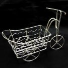 Silver Wire Rickshaw Trolley Wheel Car 1:16 Doll's House Dollhouse Miniature #13086