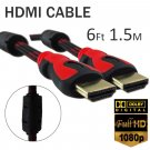 6ft 1.5m HDMI Male Adapter Cable Anti Interference For Laptop PC 3D HDTV 1080p #13050