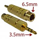 6.35mm 6.5mm 1/4 Female to 3.5mm 1/8 Male Plug Stereo Audio Adapter Converter #13107