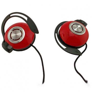 Red New 3.5mm 3.5 mm On-Ear Clip Sports Foam Earhook Headphones for Apple iPod #12087