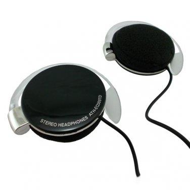 Black 3.5mm On-Ear Y-cord Clip Sports Foam Stereo Headphones for Apple iPod MP3 #12452