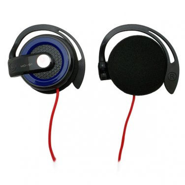 Blue 3.5mm On-Ear Y-Cord Clip Sports Foam Stereo Headphones for Apple iPod MP3 #12538
