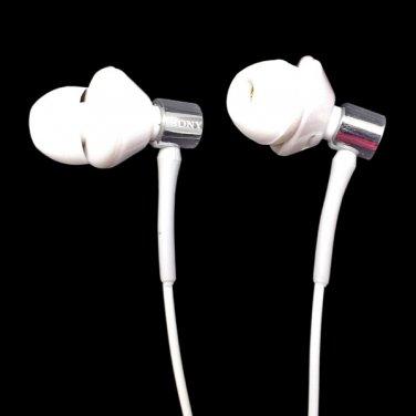 Silicone White 3.5mm In-Ear 13.5 Driver Unit L-plug Headphone Earphone MIB #12569