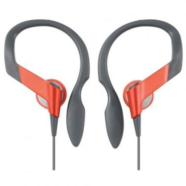 Red 3.5mm Clip Sports Running Earhook Earbud Headphones MIB for MP3 Player #12689