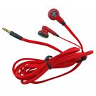 Red 3.5mm 2M 2 Meters Long Flat Cable Cord Tangle Free Earbuds Earphones Headset #12908