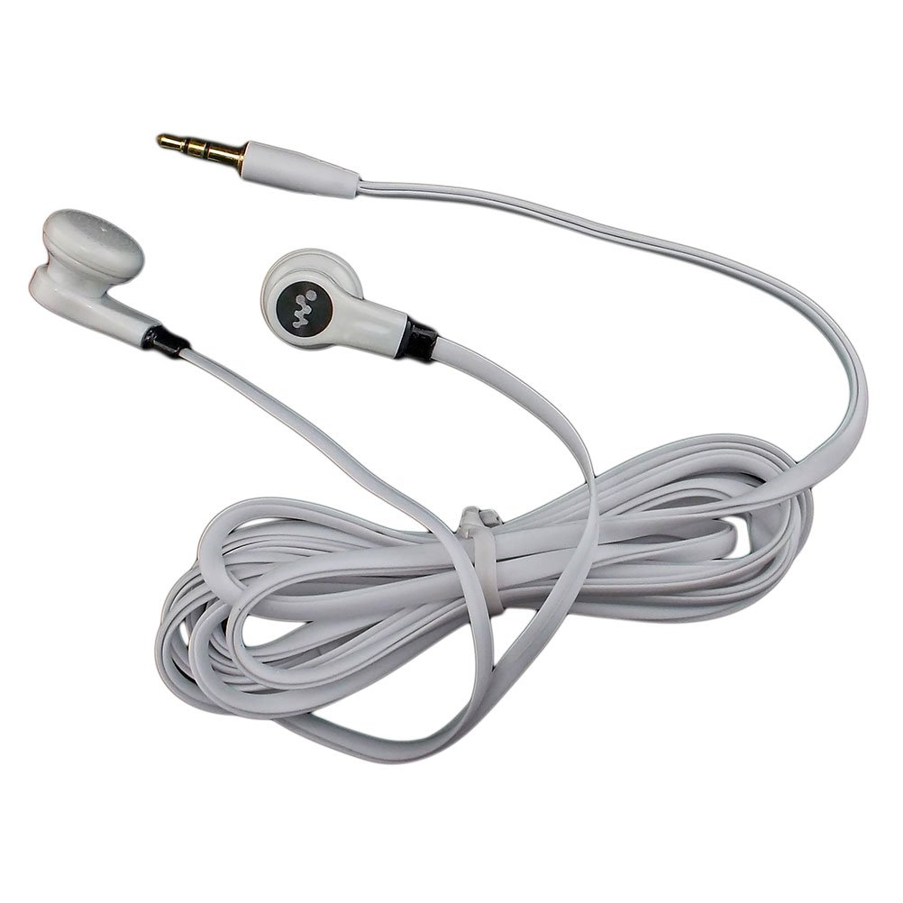 White 3.5mm 2M 2 Meters Long Flat Cable Tangle Free Earbuds Earphones Headset #12909