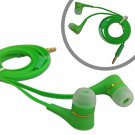Green 3.5mm In-Ear Earphone Headphone Earbuds Flat Tangle Free Cable for iPod #13046