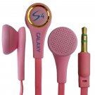 Pink 3.5mm Stereo In-Ear Earphones Headphones Earbuds Flat Tangle Free Cable #13216