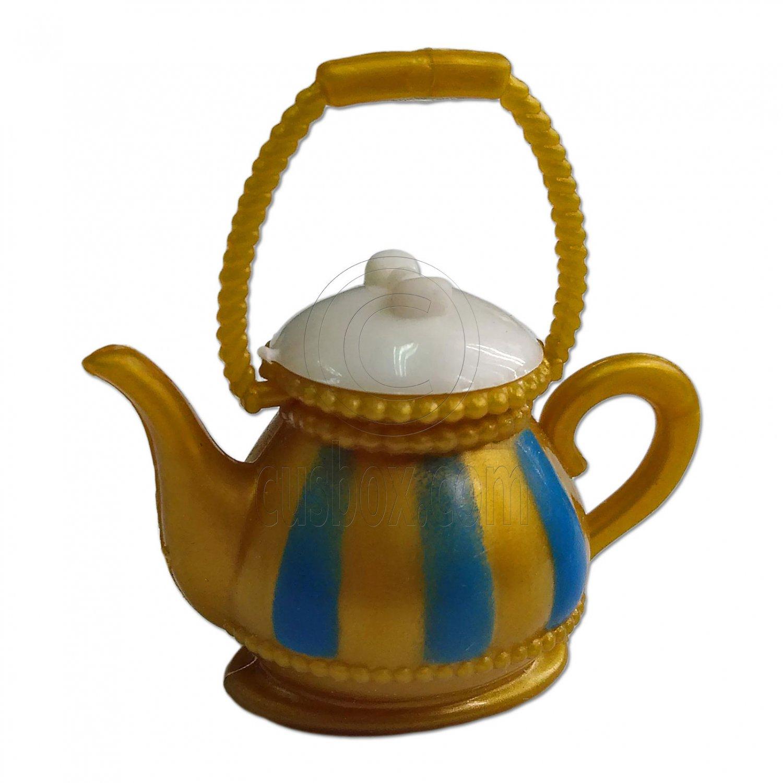 Gold Teapot Tea Pot 1:6 Scale for Barbie Monster High Doll's House Miniature #13139