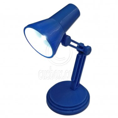 Blue Flexible Working LED Table Lamp Light 1:6 Scale Barbie Monster High Doll's #13152