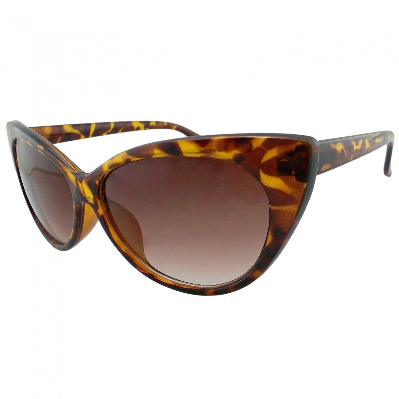 Women's Cheetah Classic Cat Eye Oversized Designer Fashion Shades Sunglasses #13033