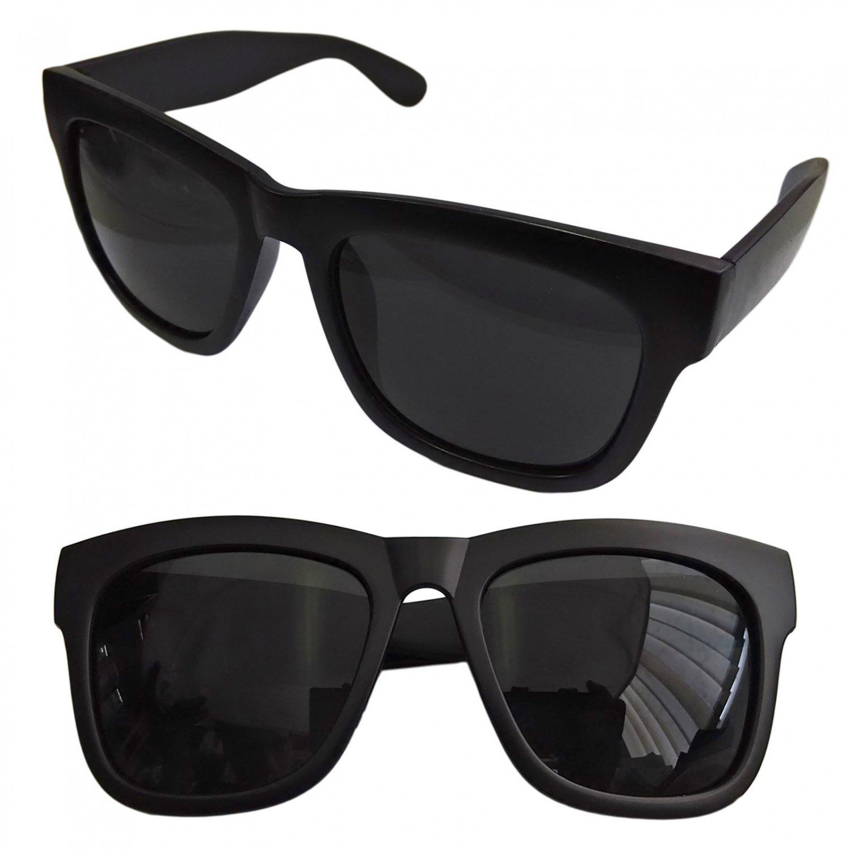 Black Blur Frame Women's Men's Wayfarer Flat Style Shades Designer Sunglasses #13272