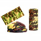 Yellow Brown Camouflage Adult Women's Men's Cycling Hiking Scarf Bandana Bandanna Gear #13297