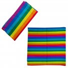 Rainbow Stripes Adult Women's Men's Cycling Hiking Scarf Bandana Bandanna Gear #13307
