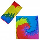 Rainbow Painting Spiral Adult Women's Men's Cycling Hiking Scarf Bandana Bandanna Gear #13308