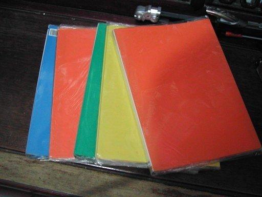 Coloured A4 Clear Folders