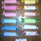 WASHCLOTH CANDY ROLL ~ BABYSHOWER FAVOR ~ DIAPER CAKES
