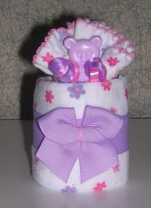 DIAPER CUPCAKE WITH MITTS ~ BABY SHOWER FAVOR