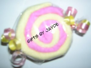 WASHCLOTH CANDY MINT SWIRLS SHOWER FAVOR~GIFTS BY JAYDE