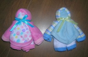DELUXE WASHCLOTH DOLL BABY SHOWER FAVOR-DIAPER CAKES