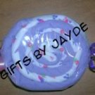 BURP CLOTH CANDY MINT SWIRL ~ BABY SHOWER FAVOR