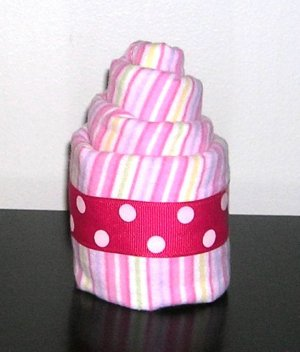 BURP CLOTH CUPCAKES~BABY SHOWER FAVOR~DIAPER CAKES