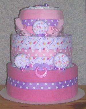 ELITE PRINCESS THEME DIAPER CAKE~ GIFTS BY JAYDE