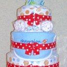 ~~L@@K~~ELITE SPORTS 3 TIER DIAPER CAKE FOR A BOY