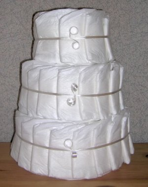 ~ ELITE UNDECORATED DIAPER CAKE ~ GIFTS BY JAYDE