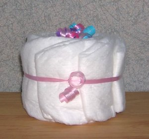 *NEW* PEA SIZE UNDECORATED DIAPER CAKE ~ GIFTS BY JAYDE