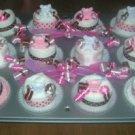 12PK DIAPER CUPCAKES IN CUPCAKE PAN~BABY SHOWER GIFT
