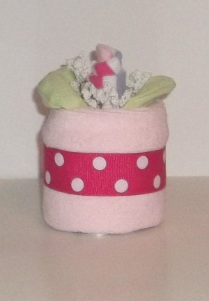 SOCK ROSE DIAPER CUPCAKE~DIAPER CAKES~GIFTS BY JAYDE