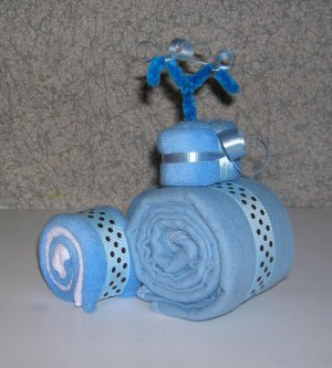 BURP CLOTH TRICYCLE~BABY SHOWER FAVOR