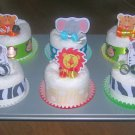 6PK OR 12PK LICENSED THEMED DIAPER CUPCAKE GIFT SET