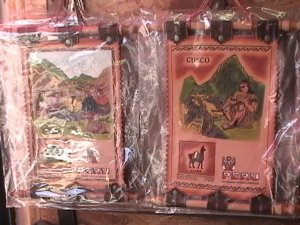 New Leather Wall Hanging from Cusco Peru
