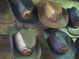 New Mens Leather Western Style Hats from Cusco Peru