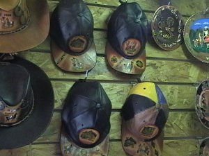 NEW MENS LEATHER BALL CAP FROM CUSCO PERU