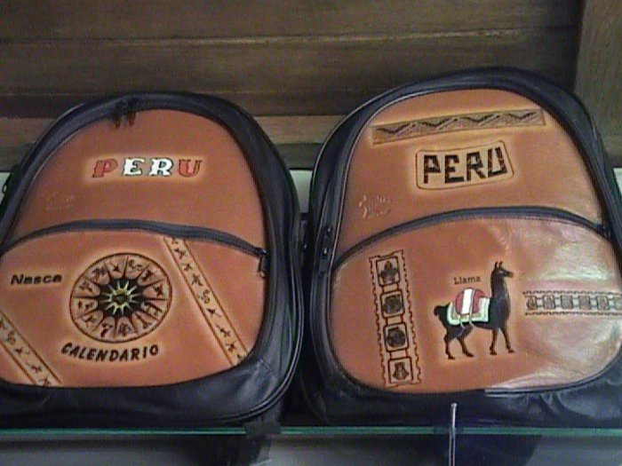 NEW LARGE LEATHER BACKPACK FROM CUSCO PERU