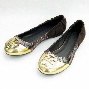 NIB Tory Burch Gold/Snake Romy Ballet Flats Shoes SIZE US 5-10