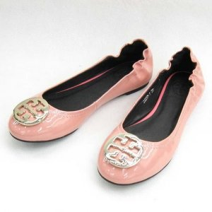 NEW TORY BURCH REVA ISLAND PINK GOLD SHOES SIZE US 5-10