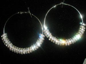 Silver Charm Hoop Fashion Earrings-SMALL