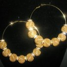 SALE! Gold Mesh Hoop Earrings - LARGE Basketball Wives Inspired