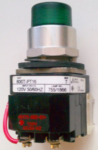 Allen Bradley 800T-PT16 Pilot Light Green 120 Volt 4,13