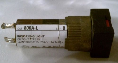 Allen Bradley 800A-L Pilot Indicating Light Red 13 2V