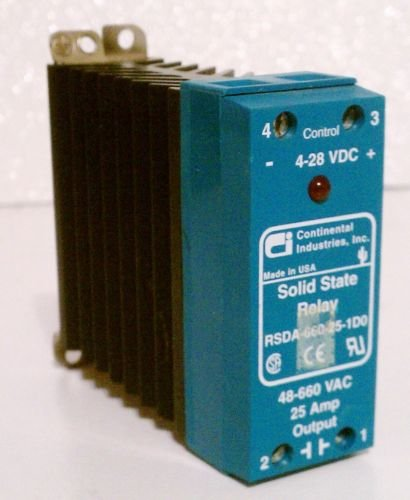 Continental RSDA-660-25-1D0 Solid State Relay 25 Amp