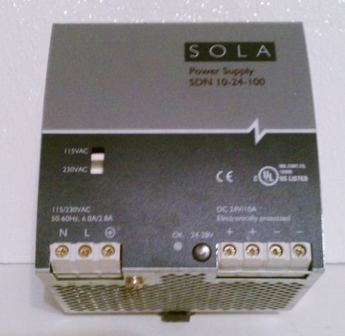 SOLA SDN 10-24-100 Power Supply 115/230 to 24 Volt 10A